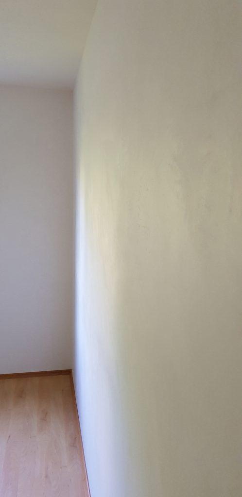 Küchenwand mit Kalkkind Marmorputz 1,0 mm geglättete Oberfläche renoviert